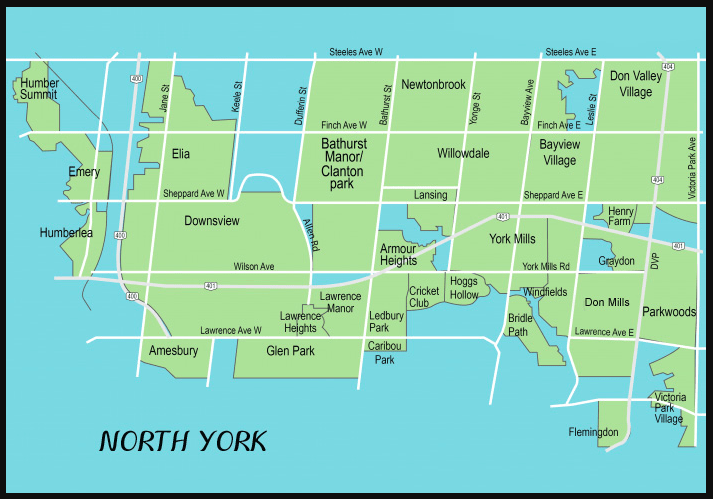 North York Map